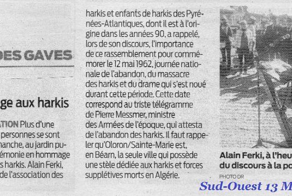 Commémoration Nationale de l'Abandon des Harkis,dimanche 12 Mai 2019 à Oloron-Sainte-Marie (64)