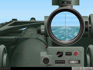 A l'attaque de bateaux ennemis (périscope et canon), carte du jeu, salle de contrôle
