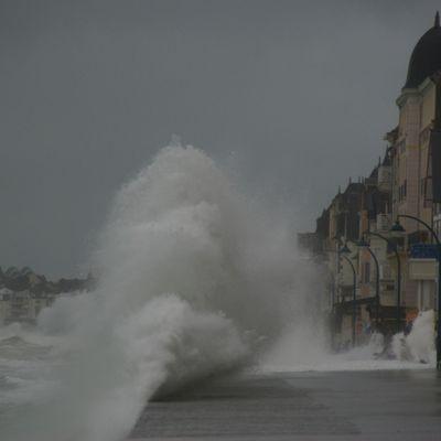 Premieres grandes marées à Saint Malo