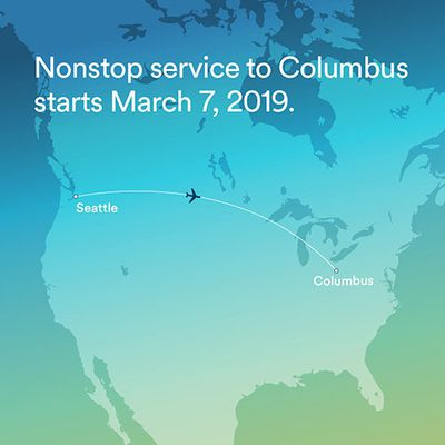 Alaska Airlines announces new nonstop service between Seattle and Columbus, Ohio