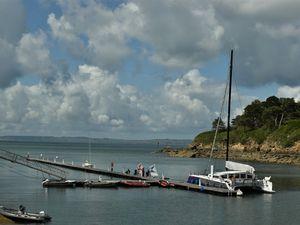 Cartes postales de Bretagne : le port de Tréboul