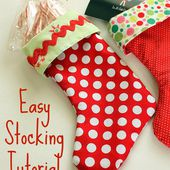 Easy Stocking Tutorial - Diary of a Quilter - a quilt blog