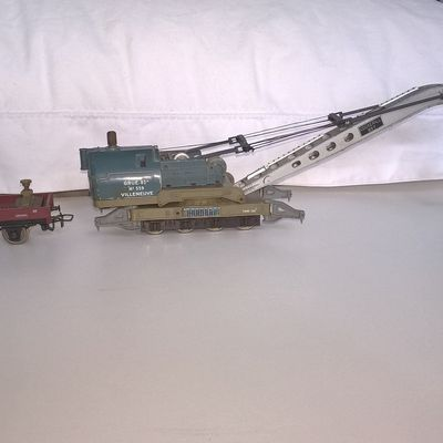 Lot wagon grue Cockerill 85t Jouef (14 euros)