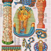 ♥Meus Gráficos De Ponto Cruz♥: Gráficos com Símbolos Egípcios em Ponto Cruz
