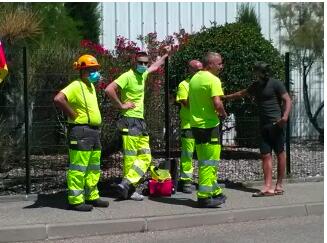 SINIAT Carpentras : les travailleurs accompagnent Patrick Auruolle