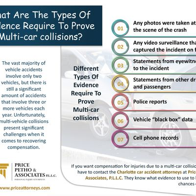 What Are The Types Of Evidence Require To Prove Multi-car collisions?