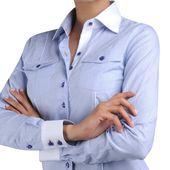 Col et poignets blancs, pour une chemise plus chic - Le temple du chemisier