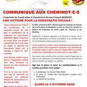 CHEMINOTS Montpellier : rejet de la demande de licenciement d'un militant ! - Front Syndical de Classe