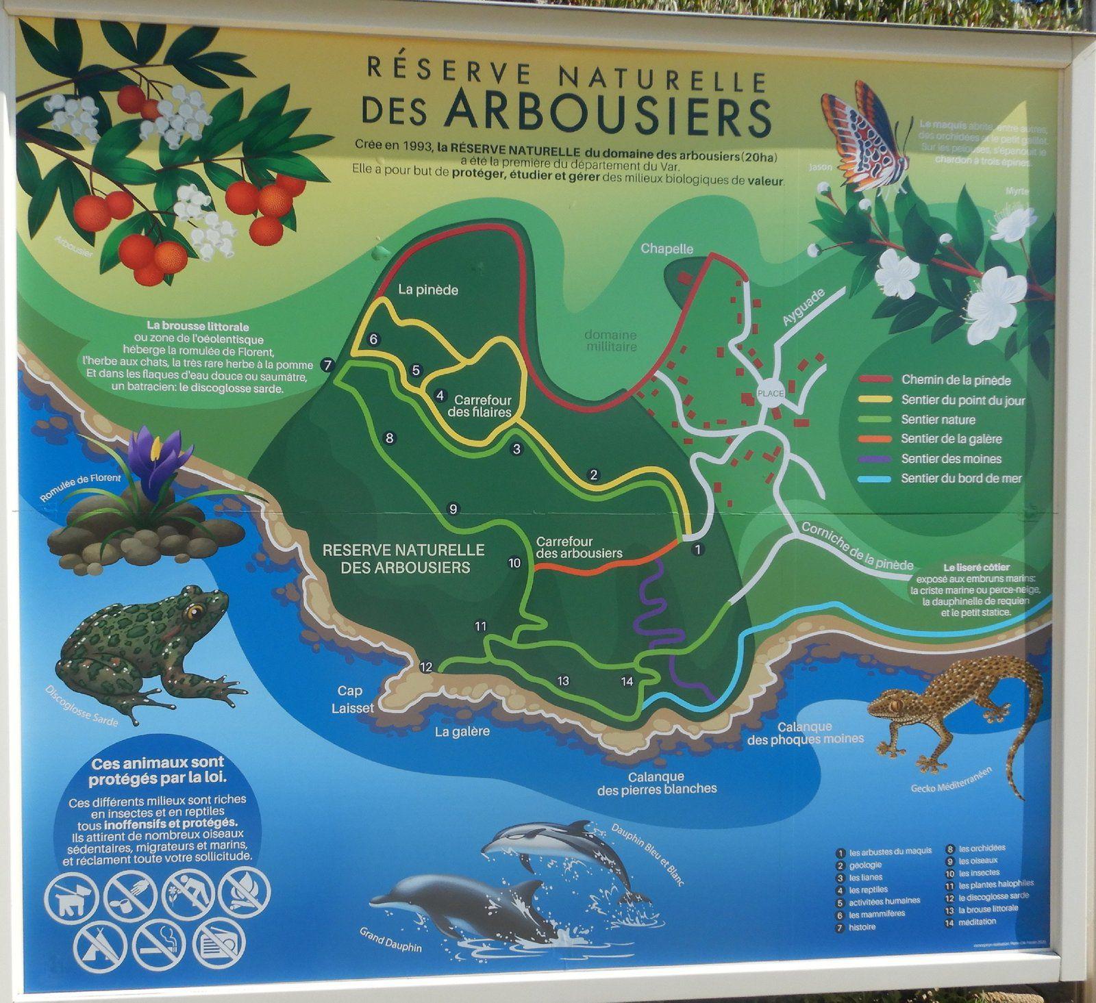 Les sentiers de la Réserve naturelle des Arbousiers