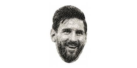 BRODERIE LIONEL MESSI
