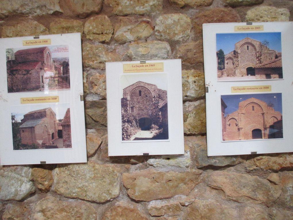 vue sur Lamalou les Bains. Roquebrun + le pont , Abbaye de Fontecaude