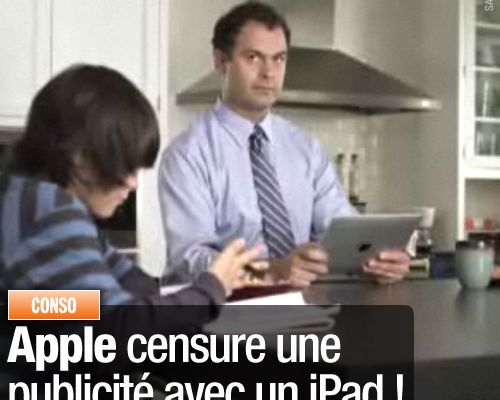 Apple censure une publicité avec un iPad !