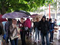 Jolie vague de parapluies .....