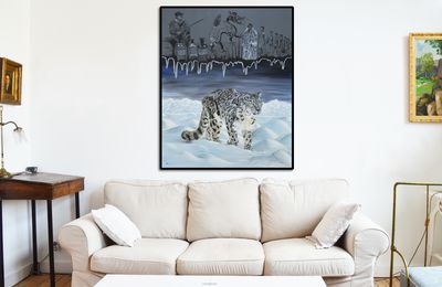 Snow leopard fight against hunters