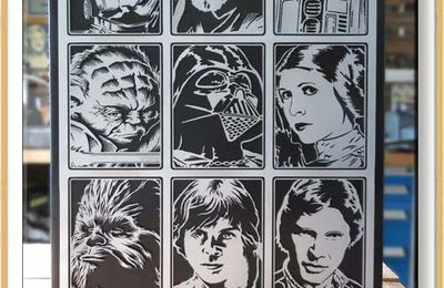 May the 4th be with you - Tableau avec 9 personnages de la trilogie originale STAR WARS