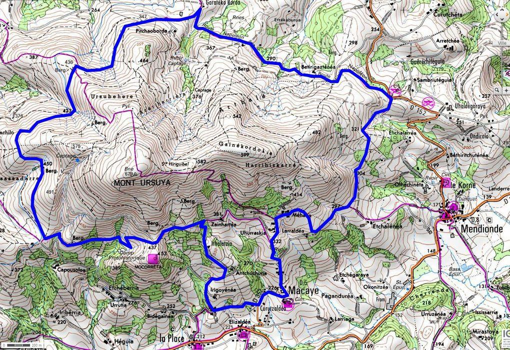 Tour du Mont Ursuya Randonnée AAA