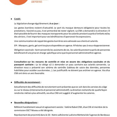 Information CFDT aout 2021