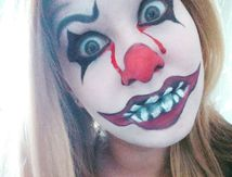 Maquillage Halloween: Le clown maléfique