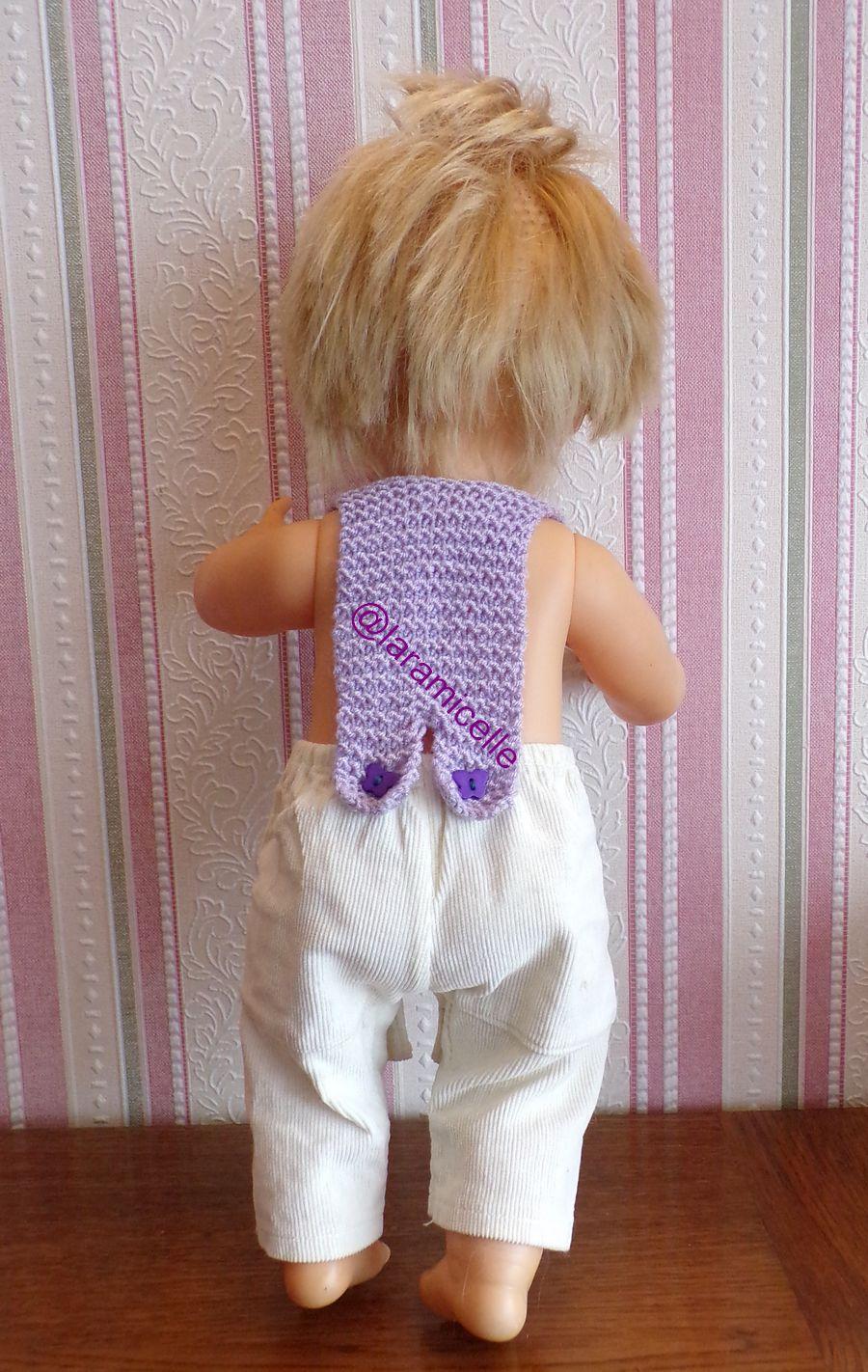 tuto gratuit  poupée  : bretelles  poupons  pour tricoteuses débutantes