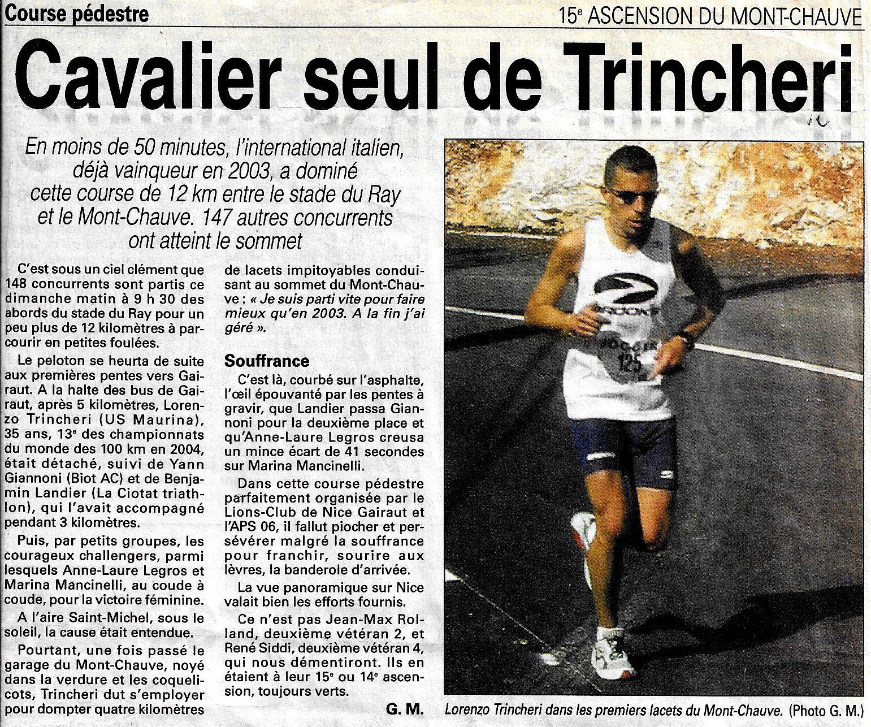 NICE 15è ASCENSION DU MONT CHAUVE.  2005
