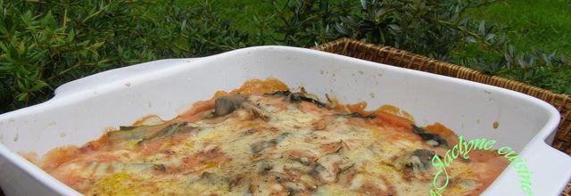 Blettes, sauce béchamel à la tomate, comté râpé