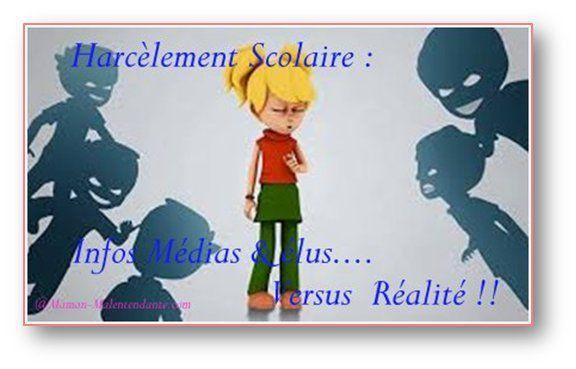 Harcèlement Scolaire : Infos Médias Versus Réalité.
