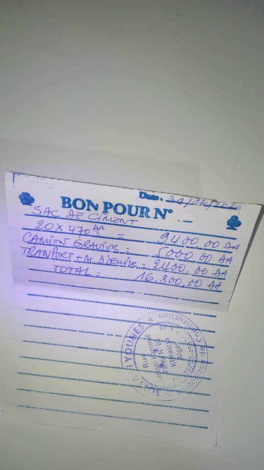 (Mise à jour ) les  factures des travaux de la maison de la famille en difficulté en Algérie