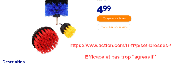 Sélection Achat Magasin Action - Poncage Polissage Decapage