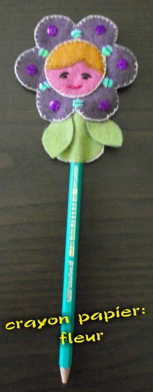 Crayon papier Fleur
