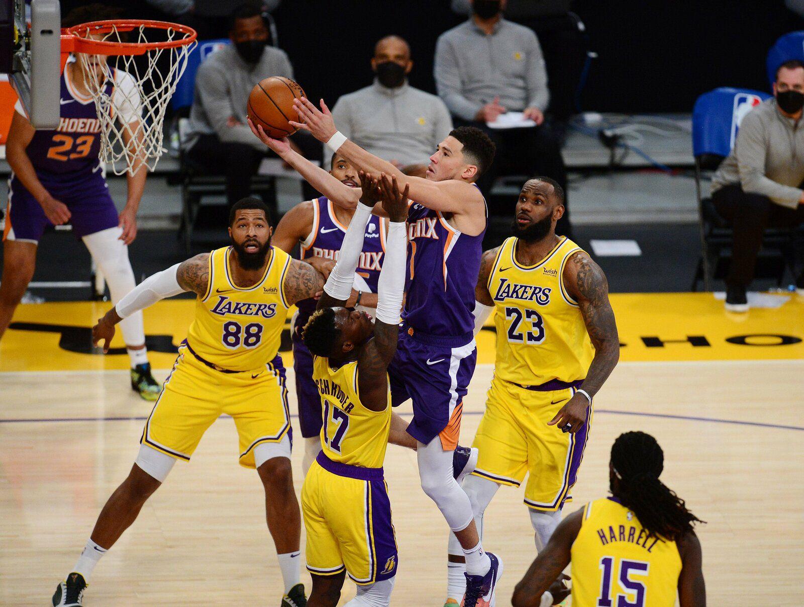Les Suns s'imposent sur le parquet des Lakers