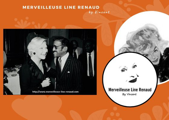 PHOTOS: Line Renaud et Samy Davis JR  1981