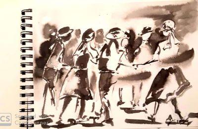 Danses Bretonnes , peinture et gravure.