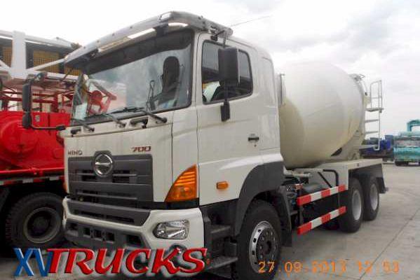 1/ Camions porteurs HINO 700 6X4 - Chassis Malaxeurs Toupie - Export Chine - Concrete Mixer Trucks China - شاحنة خلط الخرسانة في الصين
