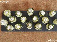 Roulés de courgette ail et fines herbes