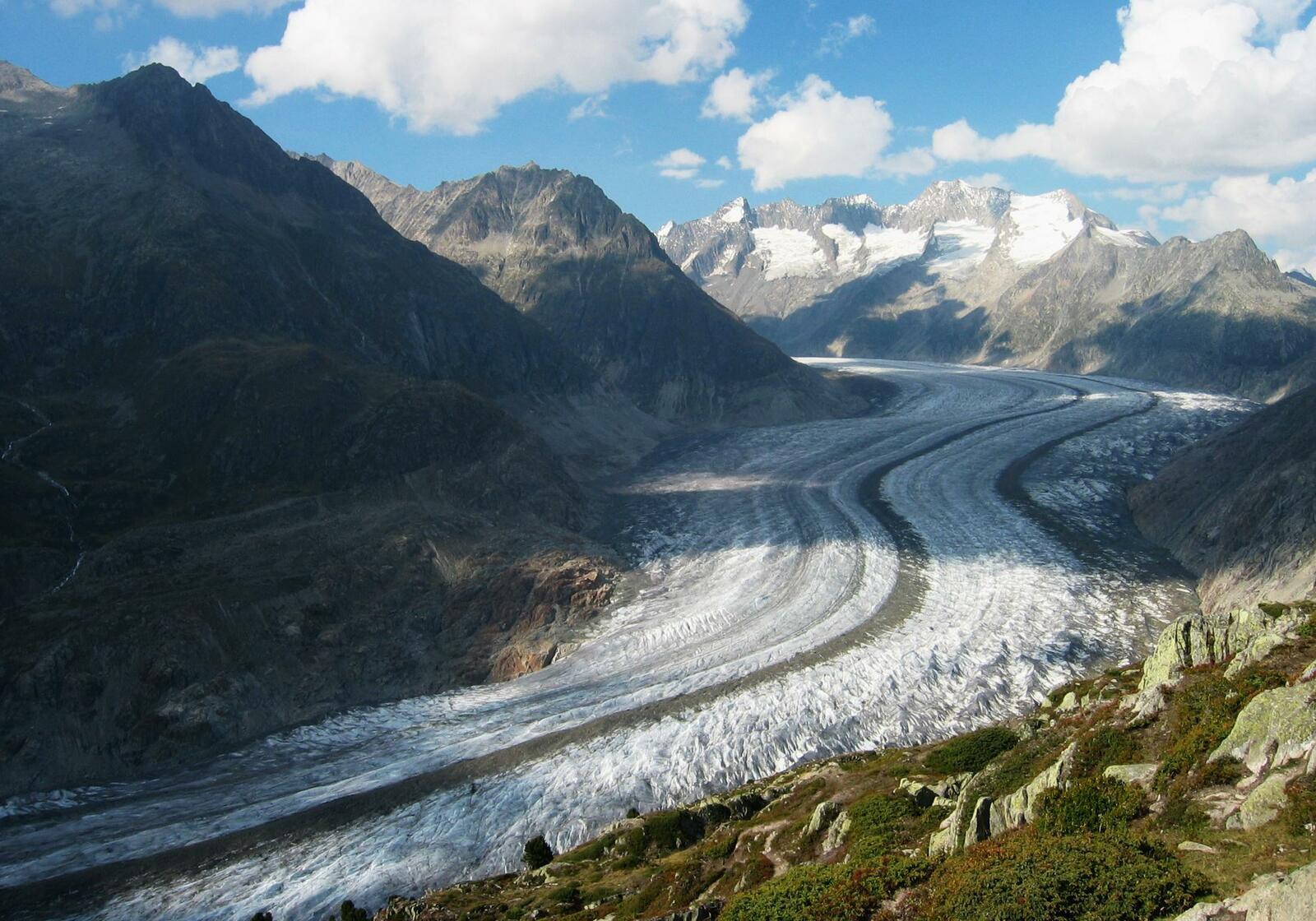 Glacier d'Aletsch en Suisse (crédit photo : Riederalp).