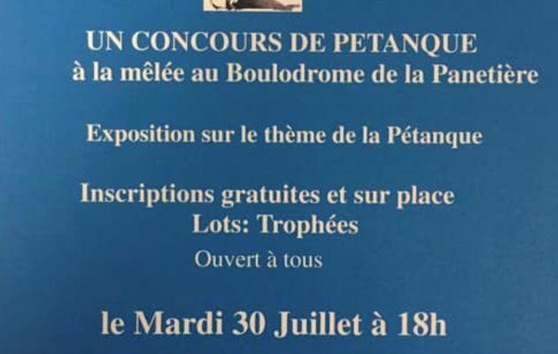 Concours de Pétanque à la Panetière