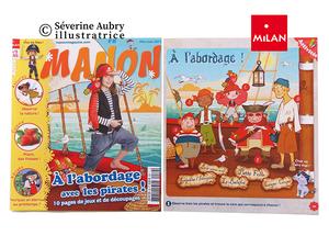 Extraits d'un cahier d'activités sur les pirates - Manon mag - 2011