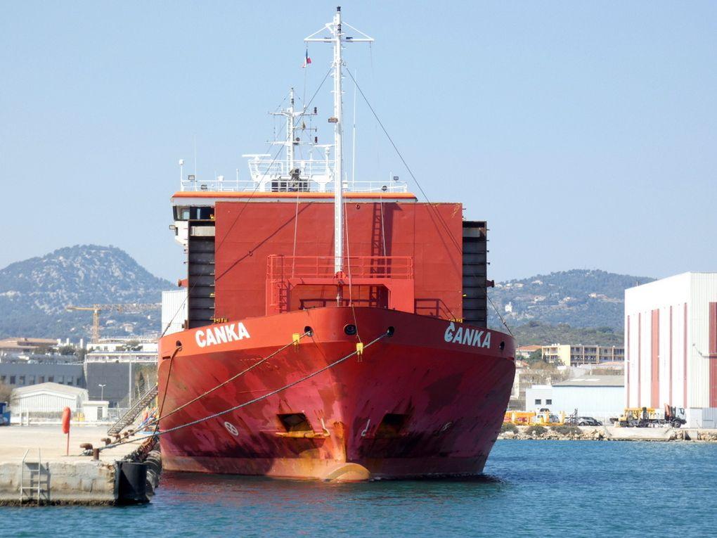 CANKA  , a quai dans le port de la Seyne sur Mer le 28 mars 2019