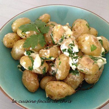Patates nouvelles à la grecque