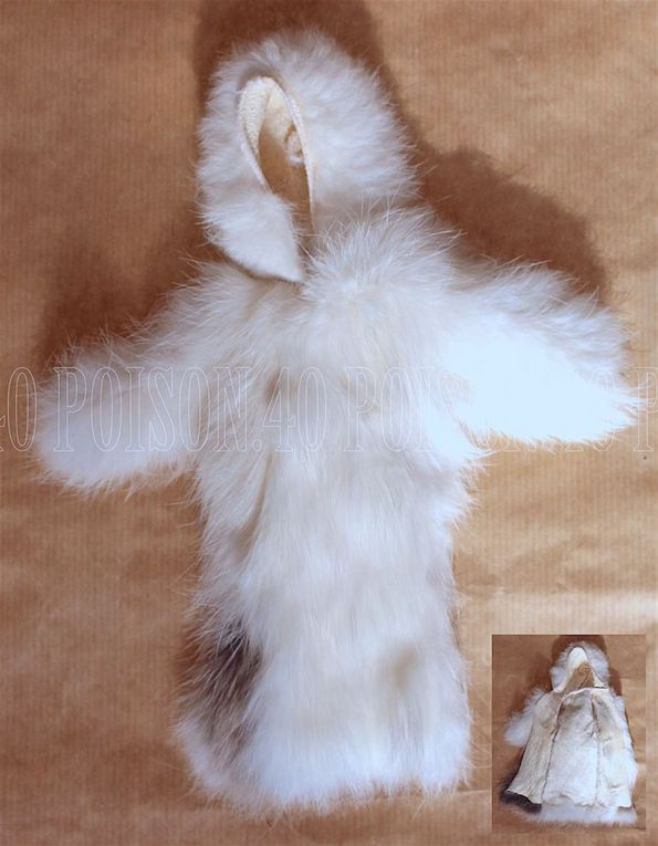 """EXCLUSIVE"" REAL FUR COAT FOR BARBIE DOLL 1977 MATTEL"