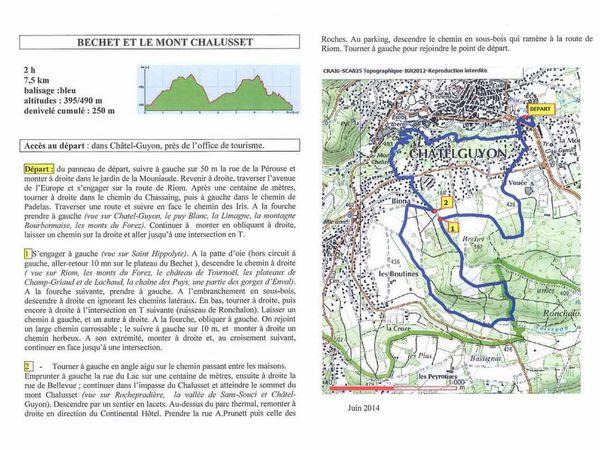 """Randonnée du """"Mont Chalusset"""" à Chatel-Guyon"""