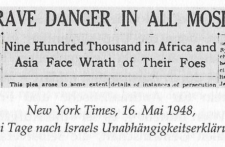 1948. LES JUIFS EN GRAND DANGER DANS TOUS LES PAYS MUSULMANS!