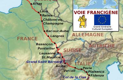 Départ sur la Francigena