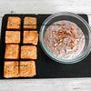 Crackers aux graines et houmous aux haricots rouges et courgettes