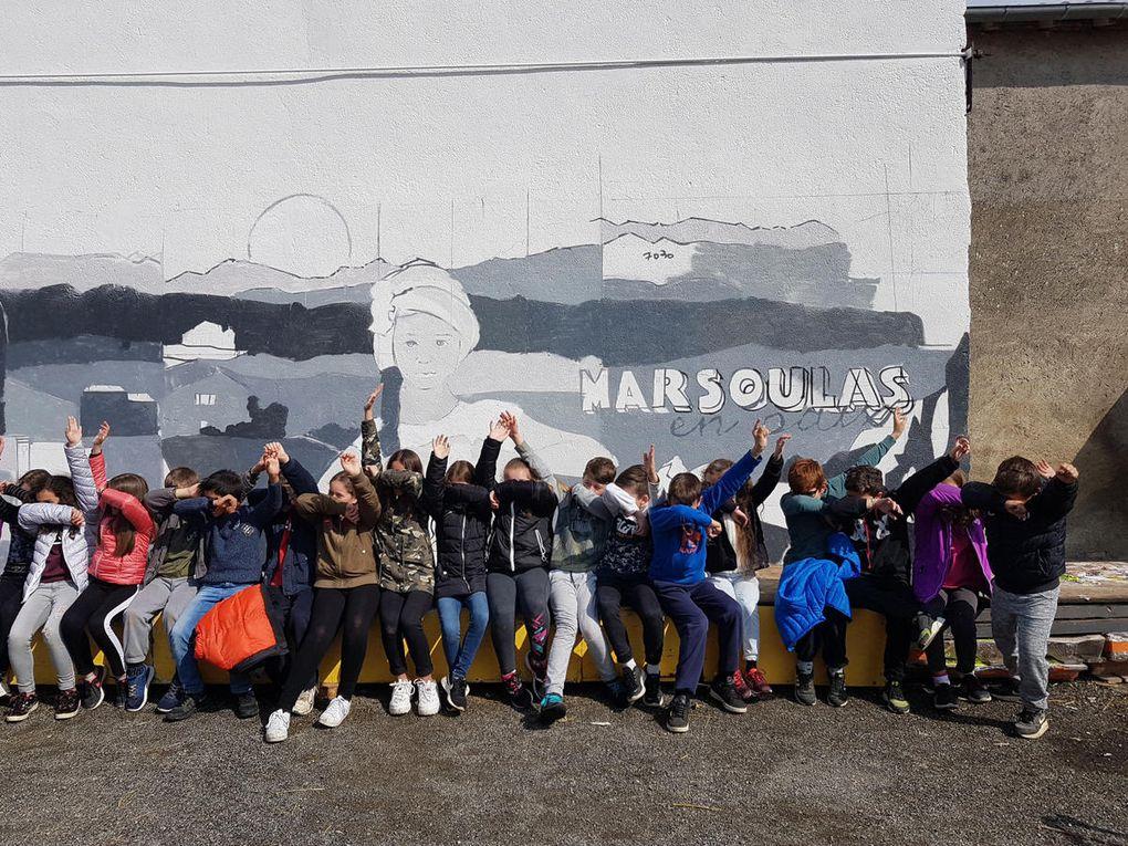 Marsoulas - bientôt la fresque des enfants de l'école