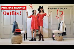 MOM AND DAUGHTER OUTFITS