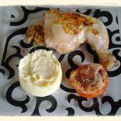 Cuisse de poulet à la crème d'échalote et purée au thermomix - La cuisine de poupoule