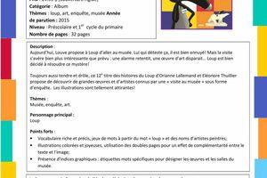 Fiches CP-CE1 proposées par les éditions Auzou (Annexe : Le loup qui enquêtait au musée) [Dossier][Loup][CP][CE1]
