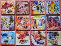 """Festival les """"SARABANDES"""", à Mareuil (16) Exposition Marie Bazin et bancs de poissons...c'est fini !"""