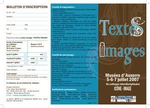 TEXTES IMAGES 2007